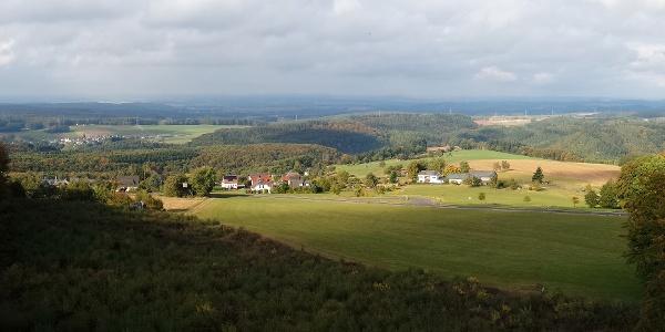 Panoramablick von der Vulcano Infoplattform_Vulkaneifel-Pfad: Vulcano-Pfad Schleife Ost