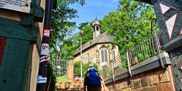 """Start in Marburg, hinauf zum """"Michelchen"""""""