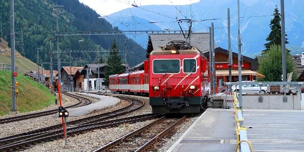 Bahnhof Sedrun.