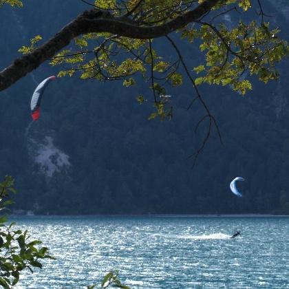 Kitesurfer Maurach, Achensee