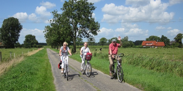 Radfahrer in Rhauderfehn