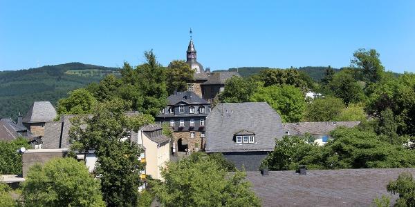 Oberes Schloss vom Turm der Nikolaikirche (Krönchen) aus gesehen