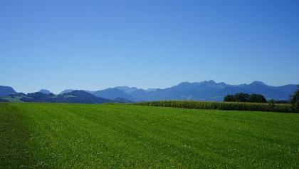 Blick auf die Bayerischen Alpen von Petzgersdorf