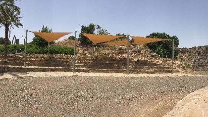 תמונה פנורמית בגן הלאומי כוכב הירדן