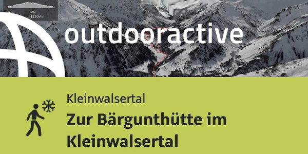 Winterwanderung im Kleinwalsertal: Zur Bärgunthütte im Kleinwalsertal