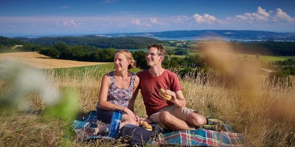 Picknick auf dem Vogelherd-Hügel