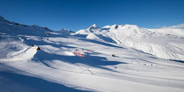 Blick auf den Snowpark.