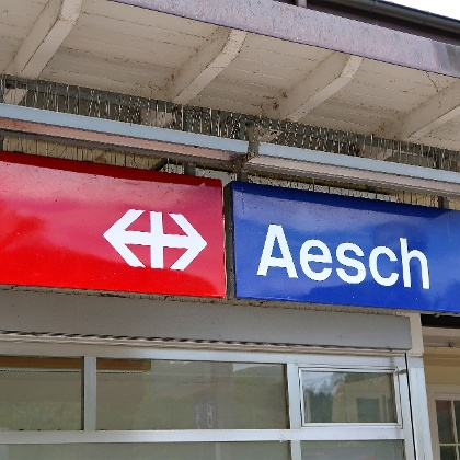 Bahnhof Aesch BL.