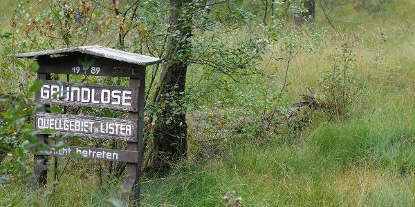 Die Grundlose - Das Quellgebiet der Lister