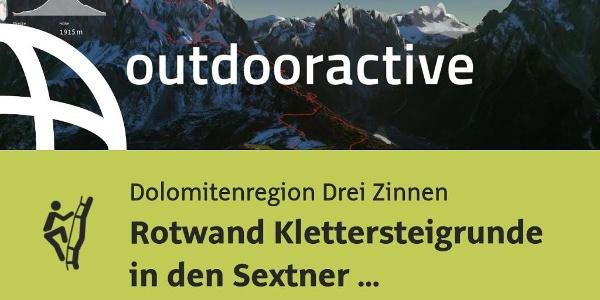 Klettersteig in der Dolomitenregion Drei Zinnen: Rotwand Klettersteigrunde in den Sextner Dolomiten