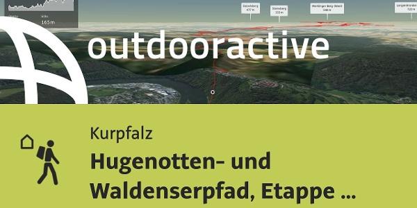 Fernwanderweg in der Kurpfalz: Hugenotten- und Waldenserpfad, Etappe Neckarsteinach-Nagold