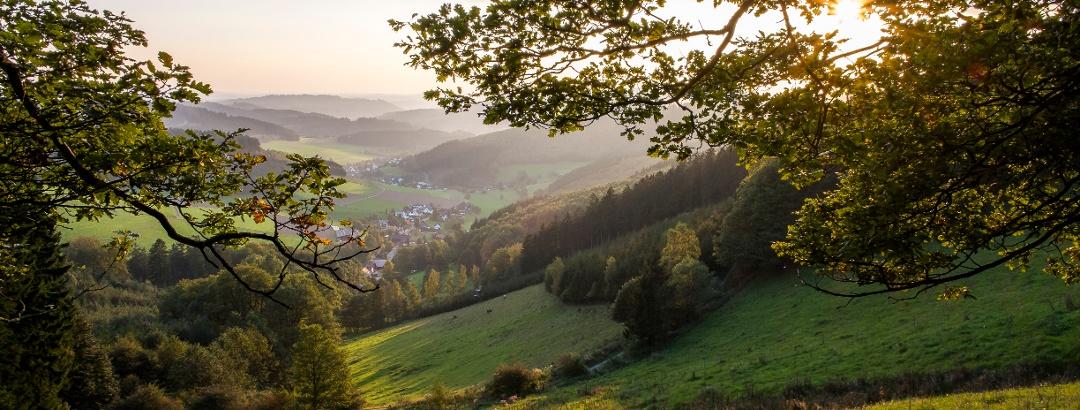 Traumhafter Ausblick über die Hilchenbacher Gemarkung