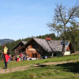 Die Hocheckalm-Hütte