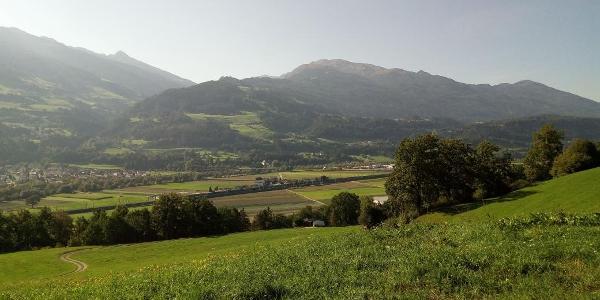 Blick auf den Teil der Route  am Glungezer