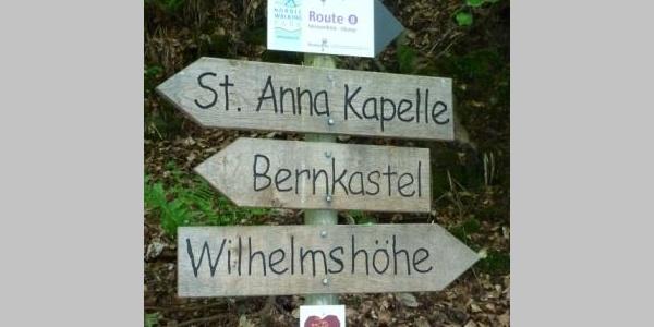"""Beschilderung """"Monzelfeld-Olymp"""" Route"""