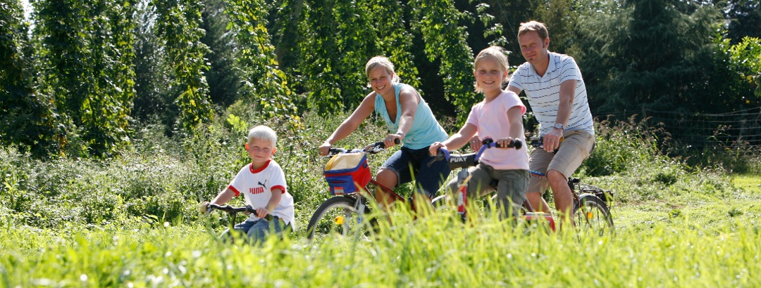 Familien-Radtour auf der Hopfenschlaufe