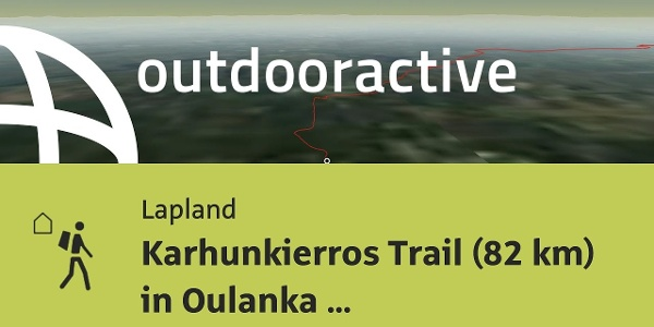 long distance hiking trail in Lapland: Karhunkierros Trail (82 km) in Oulanka National Park