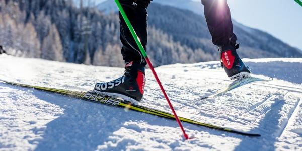 Piste de ski de fond de difficulté moyenne