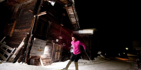 4.5 km Langlaufgenuss auch Abends nach Sonnenuntergang