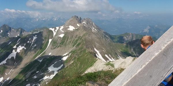 Höchster Liechtensteiner Gipfel: Grauspitz mit Doppelgipfel, 2599 m.