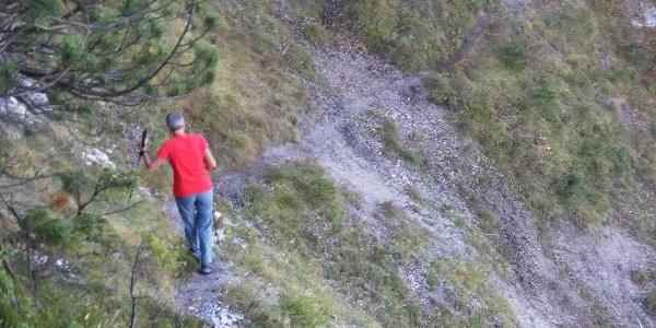 Querung der Erosionsrinne