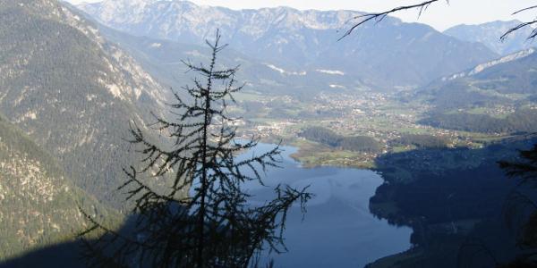 beim Aussichtspunkt Goiserer-Blick mit Hallstätter See