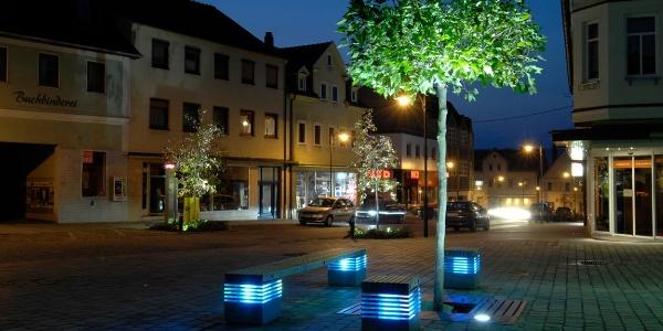 Neustadt bei Coburg bei Nacht