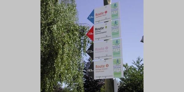 Beschilderung Nordic Walking Route
