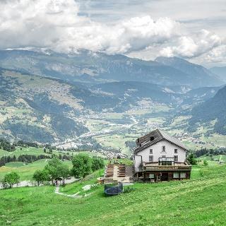 Ausblick in der Val Lumnezia