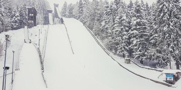Die Sprungschanzen am Kälberstein | Berchtesgaden