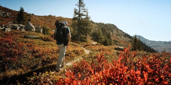 Herbststimmung auf dem Weg zum Muttjöchle