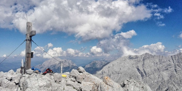 Am Hochkalter Gipfel