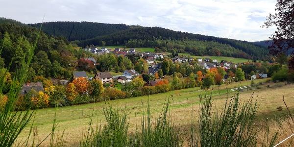 Ausblick auf Herzhausen
