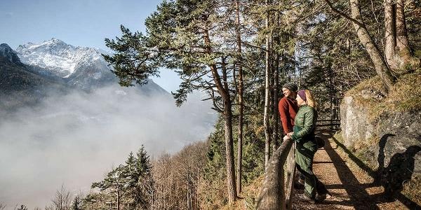 Auf der Soleleitung im Bergsteigerdorf Ramsau