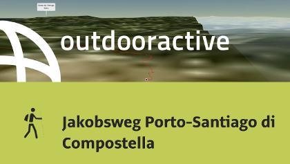 Pilgerweg in Soutomaior: Jakobsweg Porto-Santiago di Compostella