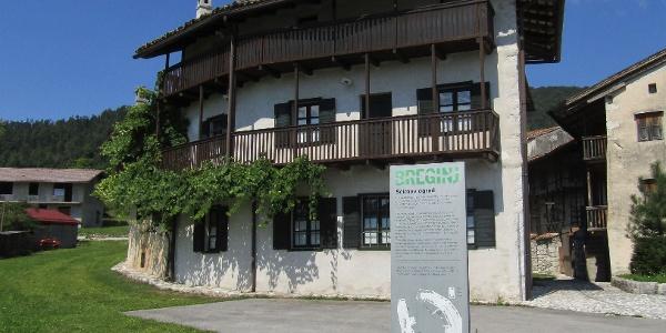 Breginj - old village centre, museum