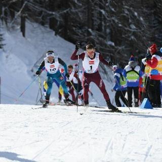 FIS Rennloipe anlässlich der Junioren WM 2018 Goms