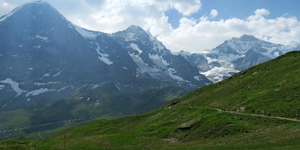 Auf dem Höhenweg vom Männlichen zur Kleinen Scheidegg.