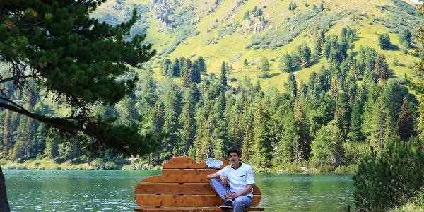 Kochlehrling Jürgen am 7. himmlischen Platzerl, dem Großen Scheibelsee