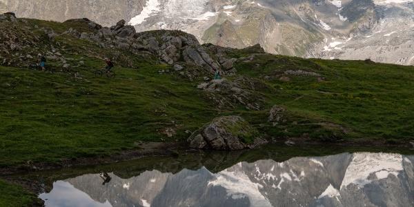 Biken in der (bald verlorenen?) Gletscherwelt