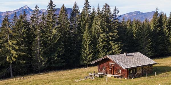 Untere Schlegel-Alm mit Sonntagshorn und Rauschberg im Hintergrund