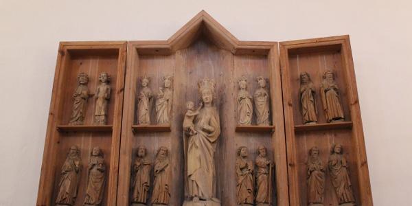 Apostelfiguren in der Kirche Ebersgrün bei Pausa/Vogtland