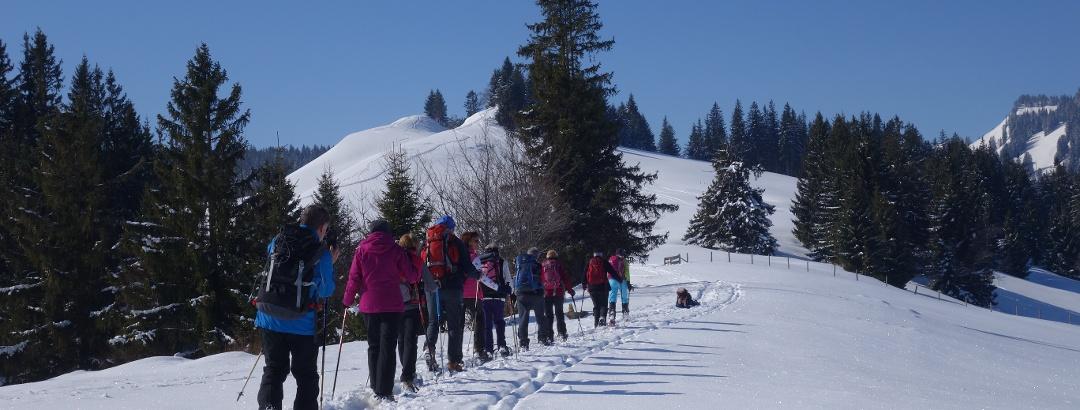 Herrliche Schneeverhältnisse beim Aufstieg