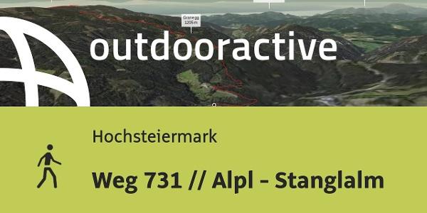 Wanderung in der Hochsteiermark: Weg 731 // Alpl - Stanglalm
