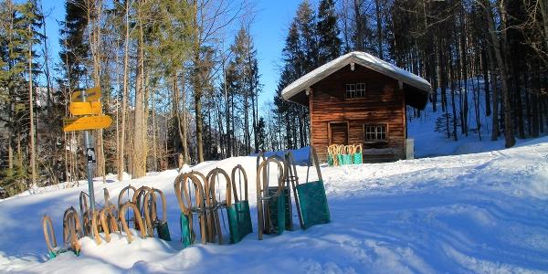 Winterwanderweg auf den Geigelstein zur Priener Hütte
