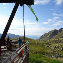 Blick von der Tiefenrastenhütte