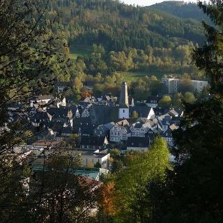 Herzweg Bad Laasphe - Stadtansicht Blick vom Fang