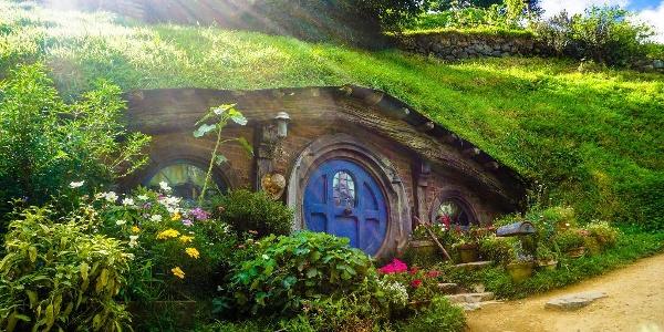Hobbit cave in Mata Mata, New Zealand