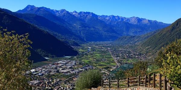 Blick auf Tirano.