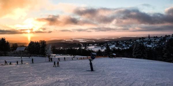 Blick auf Schöneck Winter